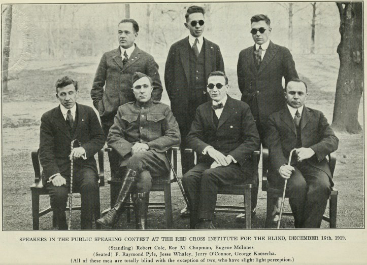 Speakers in the 1919 Evergreen Hospital Public Speaking Contest. (Evergreen Review, 1:2 (February 1920), 18/Internet Archive)