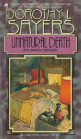 Dorothy L. Sayers, Unnatural Death, book cover.