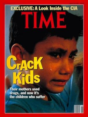 May 13, 1991, cover of Time magazine. Portrayals of ruined and potentially dangerous people born to users of crack were common from 1985 to the mid-1990s. (TIME)