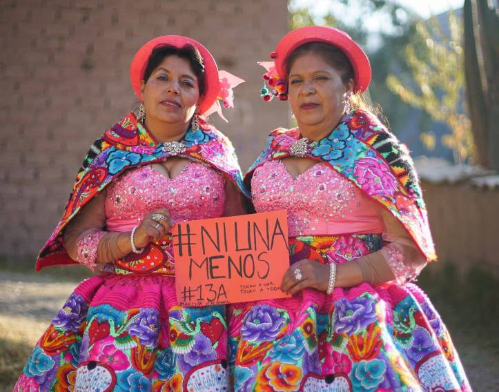 Protesting femicide in Peru as part of #NiUnaMenosPerú in August. (@PeruNiUnaMenos/Facebook)