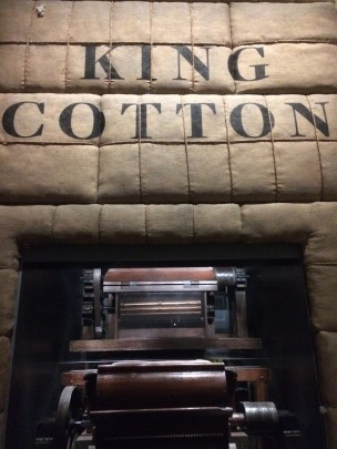 """A photo of the """"King Cotton"""" exhibit at the NMAAHC. (Laura Ansley/Nursing Clio 