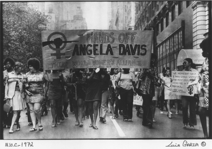 Photo from a 1972 Third World Women's Alliance march in support of Angela Davis. (Luis Garza)