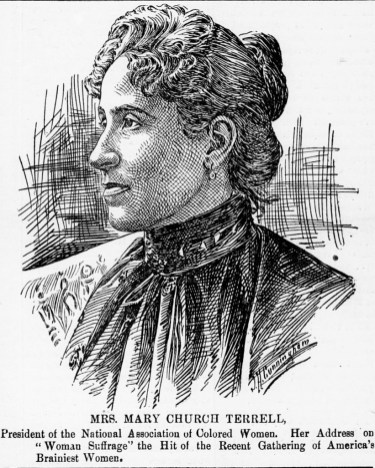 """Miss Mary Church Terrell,"" in The Colored American, February 17, 1900, p. 1. (The Colored American/Chronicling America/US Library of Congress)"