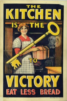 """The kitchen is the key to victory"" World War I rationing poster. (Special Collections/USDA National Agricultural Library)"