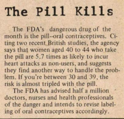 The Pill Kills: Women's Health and Feminist Activism