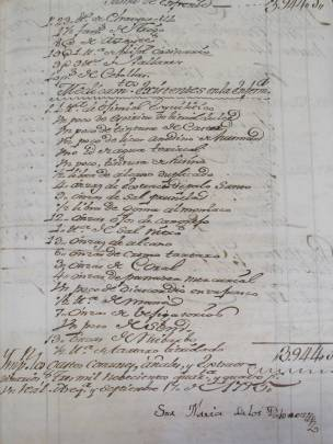 Photo of a page from a 1795 document with flowing handwriting.