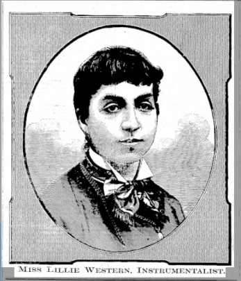 A black and white illustration of a woman with short hair.