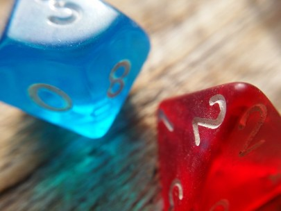 two dice.
