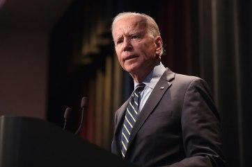 Joe Biden at a speaker's podium