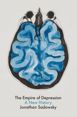 Book jacket featuring a drawing of a brain