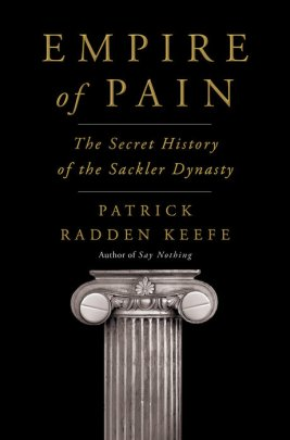 Cover image for Empire of Pain featuring a Greek column.