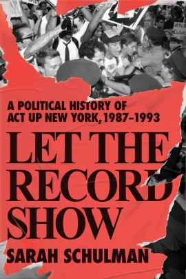 Cover of Let the Record Show, with a bright red background.