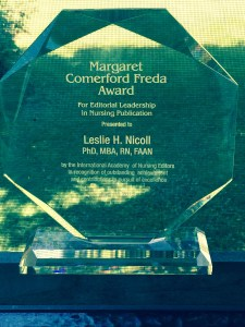 MCF Award for Editorial Leadership in Nursing Publication - 2015