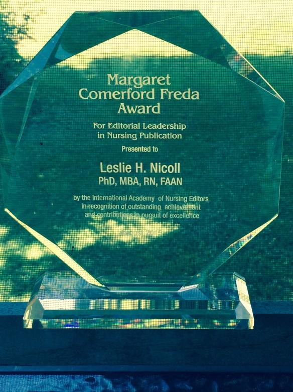 MCF Award for Editorial Leadership in Nursing Publication - 2015