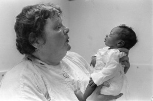 "1986 Seattle Times file photo; ORIGINAL CAPTION: Kathryn Barnard, UW professor of nursing: ""Pediatricians are still looking mostly at the child, and not the child's environment. But the child's family interaction is really a much more accurate barometer."""