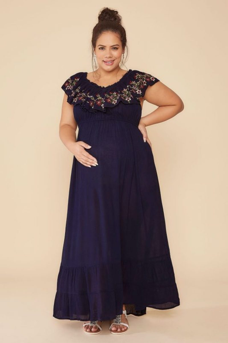 Plus Size Maternity Dresses for Baby Shower