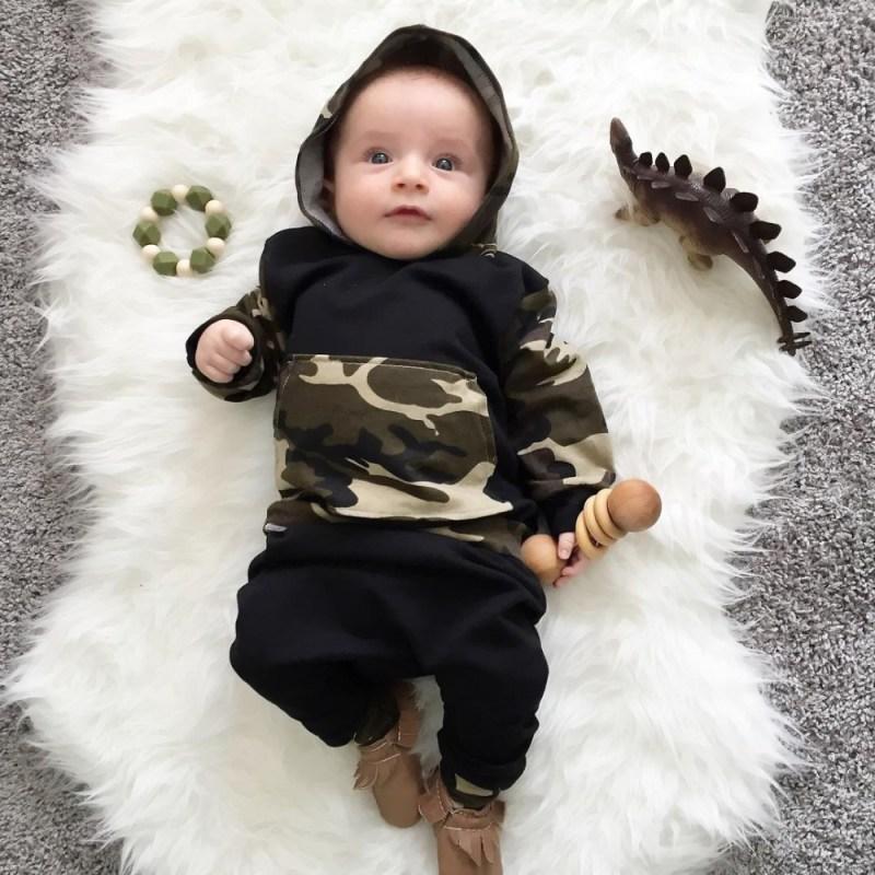 newborn baby boy - Baby Army Style
