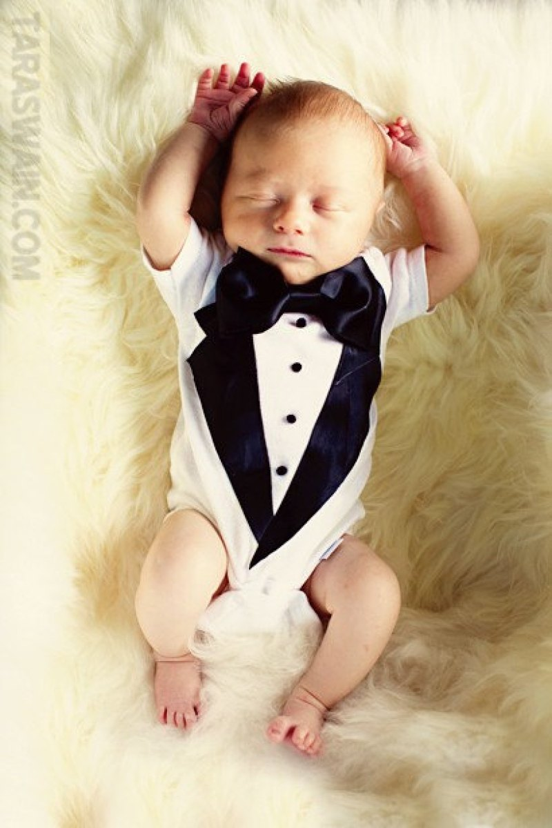 newborn baby boy - Newborn Tuxedo