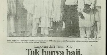 Kliping koran tulisan umrah versi cetak di Harian Terbit (dok pribadi)