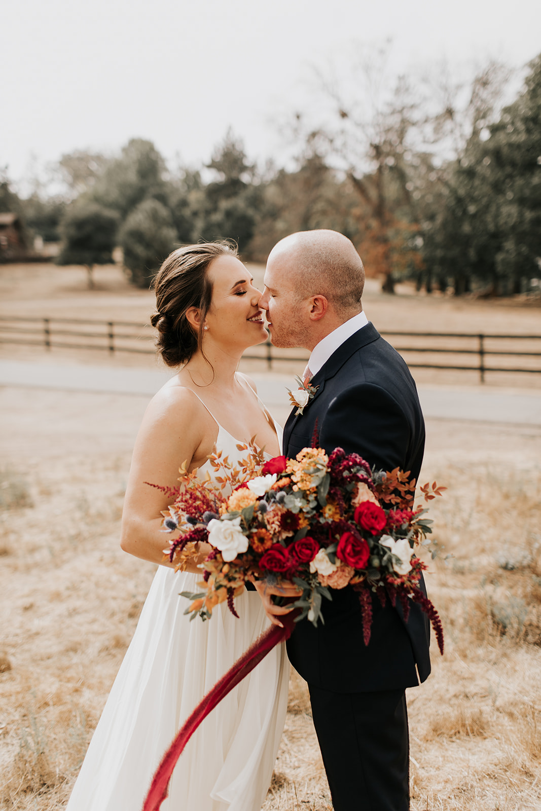 A With Flourish Fall Wedding in San Diego Apple Country
