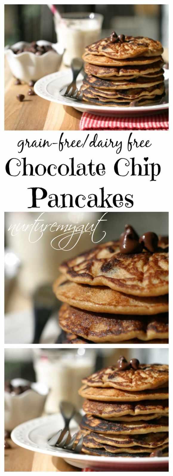 grain free chocolate chip pancakes