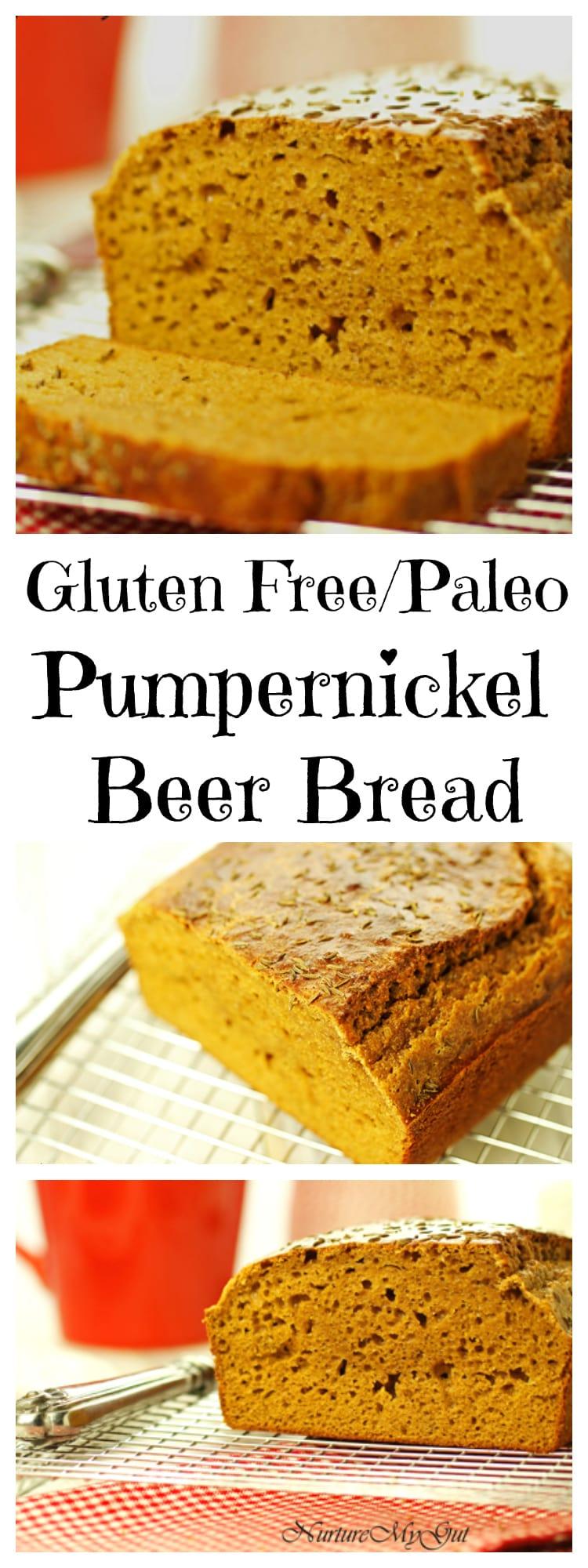 gluten free paleo pumpernickel beer bread