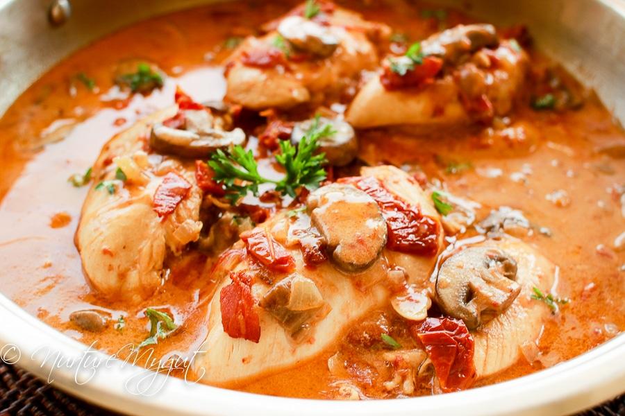 Paleo Honey Dijon Chicken W Bacon Mushrooms Amp Sun Dried Tomatoes