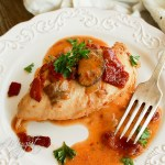 Paleo honey dijon chicken with bacon, mushrooms and sun-dried tomatoes_-7