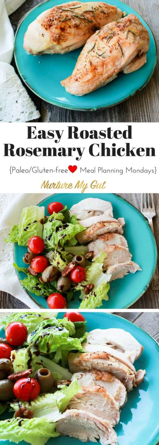 easy roasted rosemary chicken for Meal Planning Mondays