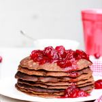 paleo-gingerbread-blender-pancakes-with-cranberry-sauce