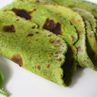 Homemade Gluten Free Spinach Tortillas