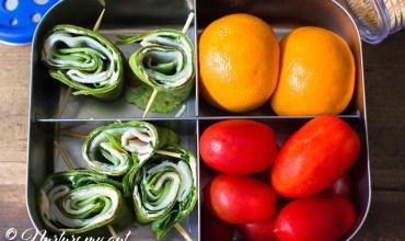 Gluten Free Spinach Turkey Cucumber Roll Ups