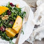 Kale and Golden Beet Salad with Dijon Balsamic Vinaigrette