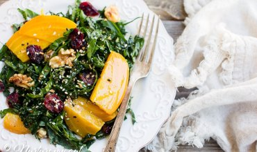 Kale and Golden Beet Salad with Dijon Balsamic Vinaigrette