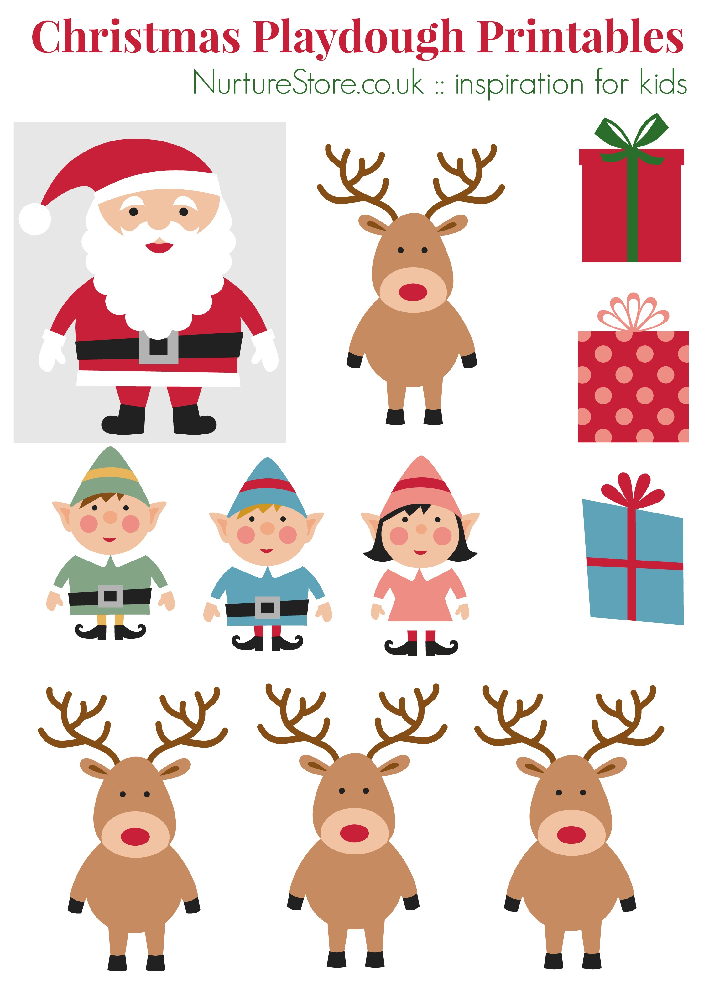 Father Christmas Printables For Playdough