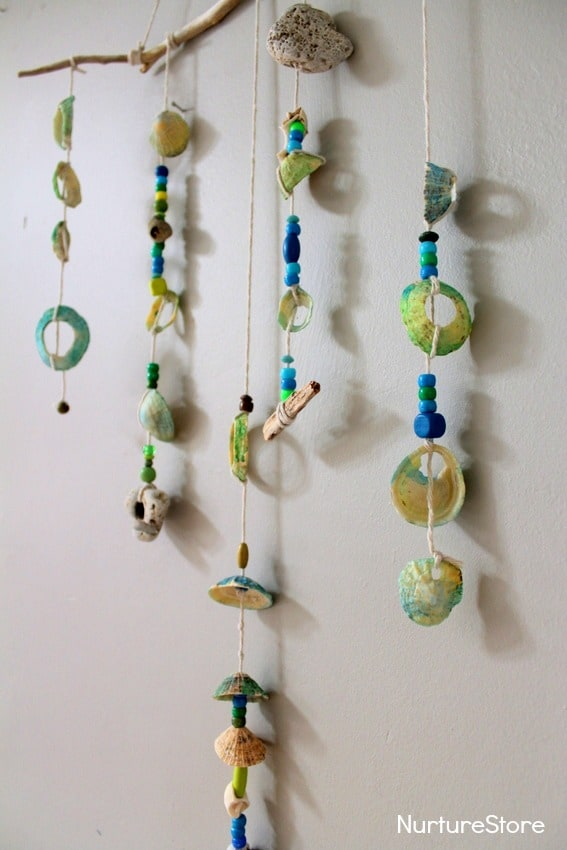 How To Make A Shell Mobile Seaside Craft NurtureStore