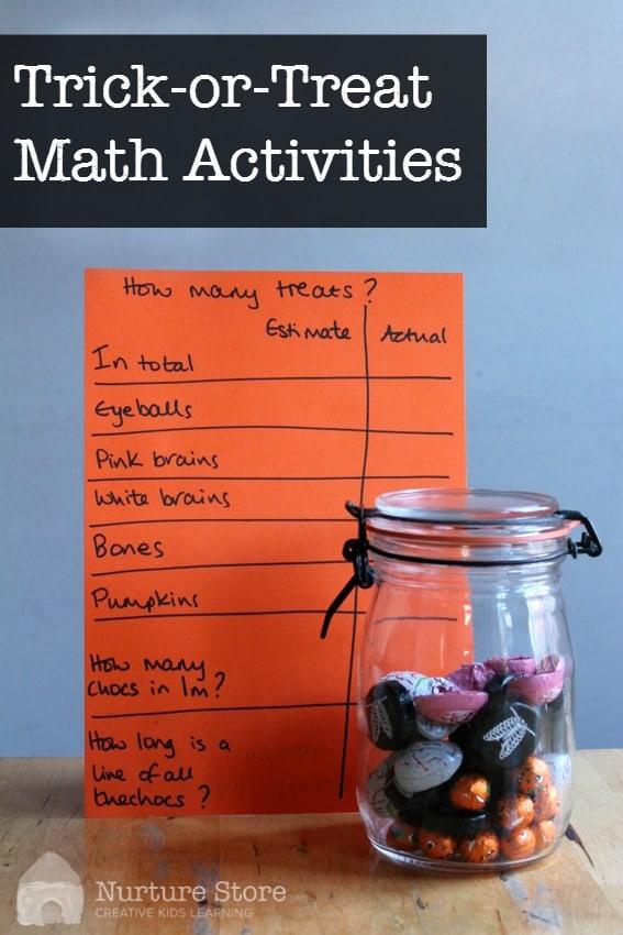 Halloween Math Activities NurtureStore