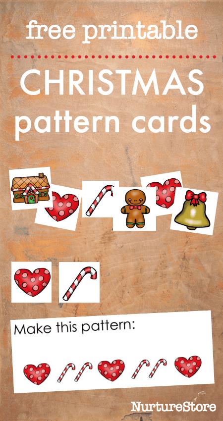 Free Printable Christmas Theme Pattern Games NurtureStore