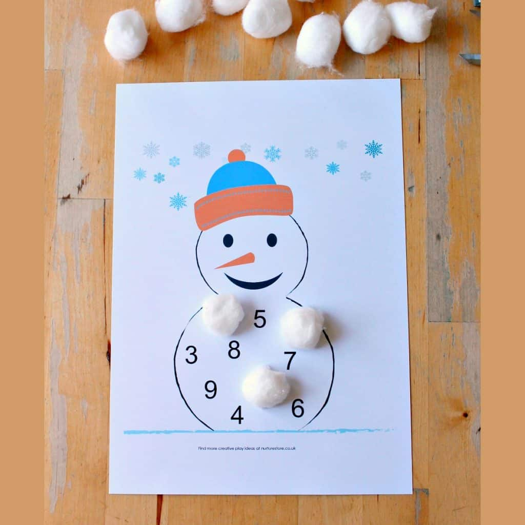 Snowmen Letter And Number Games