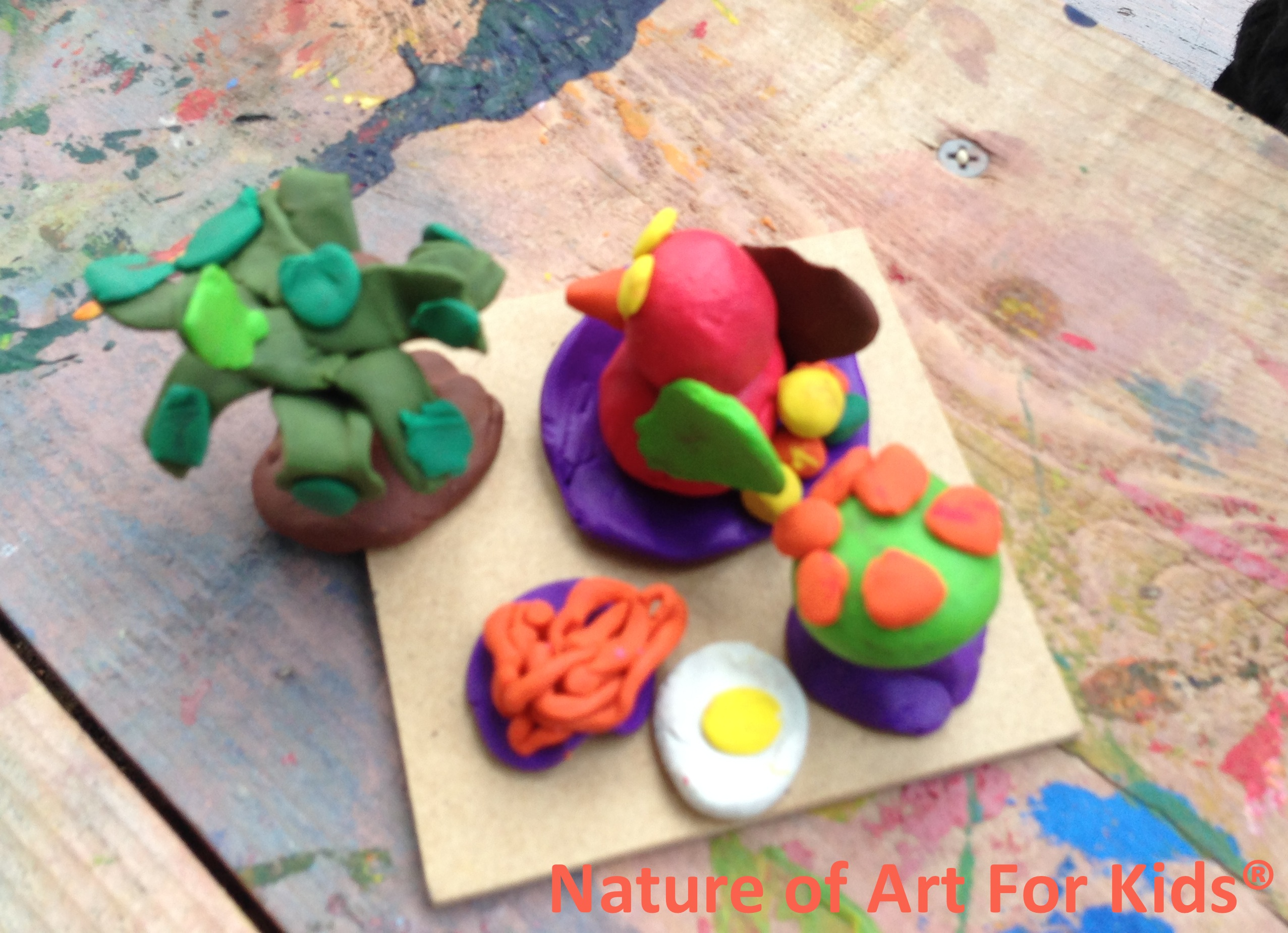 Playing With Clay Is A Relaxing Activity For Kids