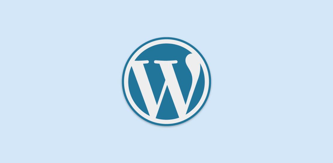 Logo WordPress Biru
