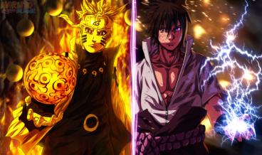 Dua Turunan Hagoromo - Naruto dan Sasuke