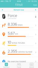 Hari ke Empat bersama FitBit Force