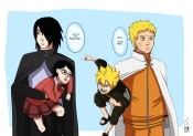 Sasuke dan Sarada Boruto dan Naruto
