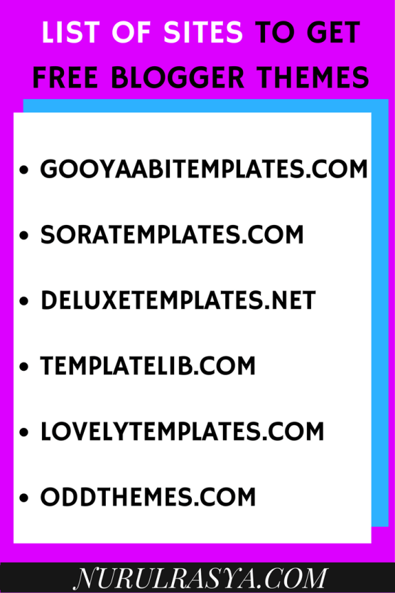 list-of-sites-to-get-free-blogger-templates
