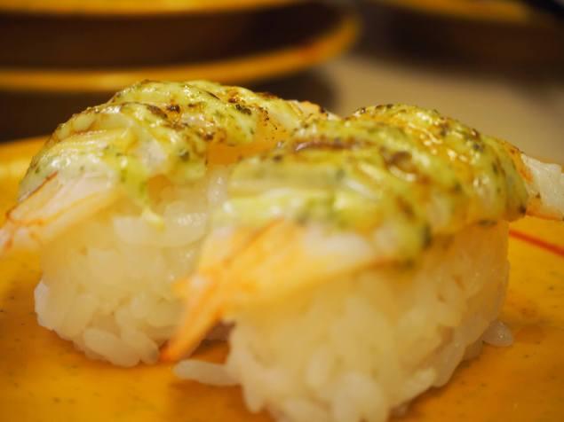 sushiro-ebi-basil-cheese