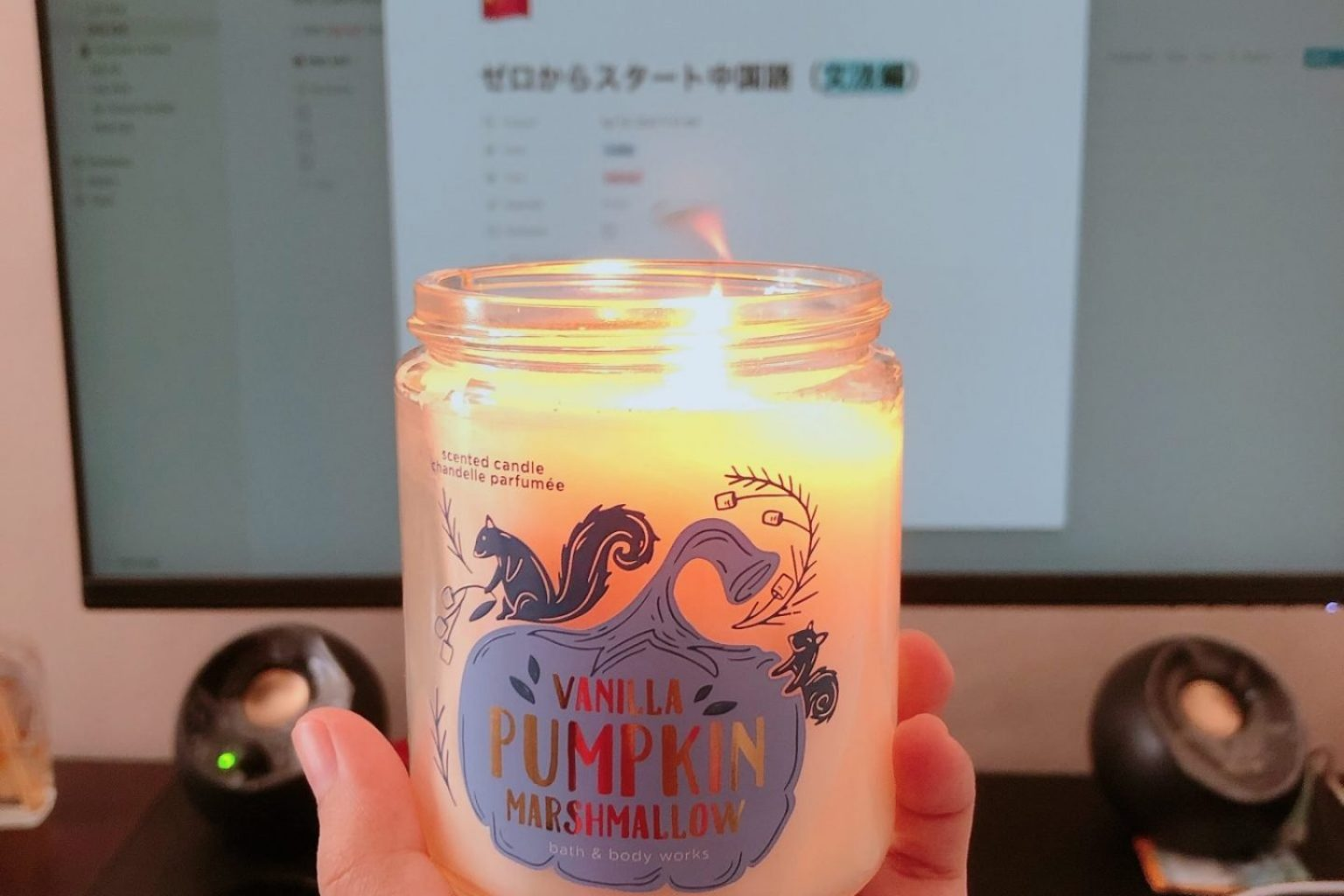 Bath Body Works Marshmallow Candle