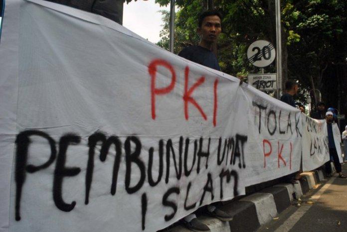 Aksi penolakan PKI/Antara//Arif Firmansyah