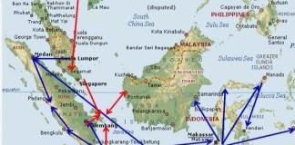 Jalur peredaran narkoba di Indonesia/Foto via Antara