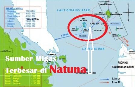 Lokasi sumber migas terbesar di Natuna, Indonesia/Ilustrasi Nusantaranews